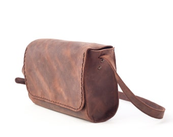 Leather Crossbody Bag, Small Purse, Messenger Crossbody Purse, Leather Crossbody Small Bag, Distressed Crossbody Bag, Crossbody Small