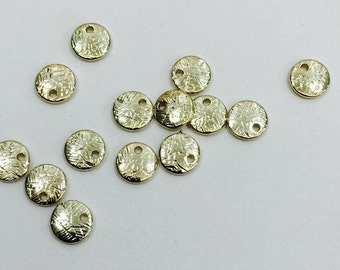 Scratch textured disc metal beads(F64)-4colors