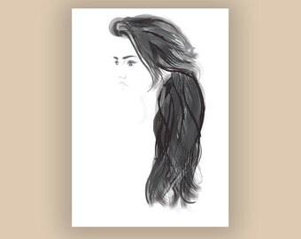 Sophie Digital Illustration Print