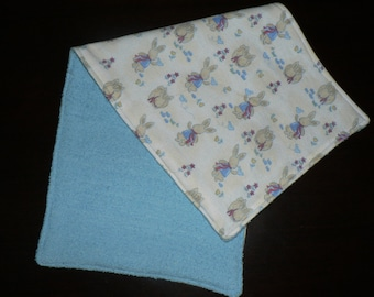 Handmade Burp Cloths 1 Only Double side Toweling On the Back