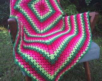 Rose Garden Afghan Throw Blanket