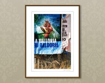 Fine art photography, vintage Italian print, rural italy photography, fine art giclee prints, 24x32cm, 30x40cm wall art, home decor