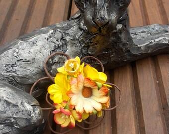 Floral hair clip, flower hair clip