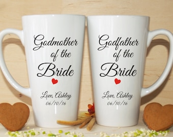 Godmother of the bride gift-Godfather of the bride gift-Godmother of the bride-Godfather of the bride-Godparents of the bride-Wedding mugs