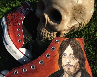 "Daryl Dixon ""The Walking Dead"" Converse High Tops"