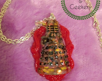Dalek Disk Necklace cameo necklace