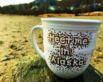 "Meet me In Alaska ""Gold"" Dots Mug"