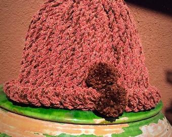 Cap wool pom poms