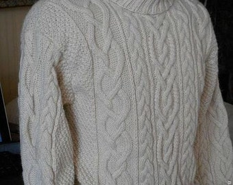 """Aran sweater for man """"Mac Dara"""""""