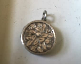 Old Vintage English Photo Locket Charm