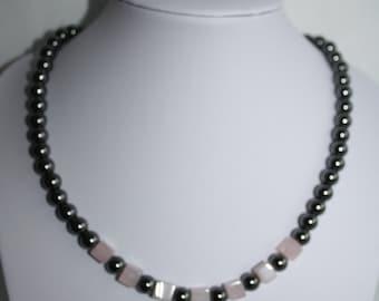 Haematite and Rose Quartz necklace