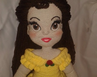 Knitting Patterns For Disney Toys : Belle amigurumi Etsy