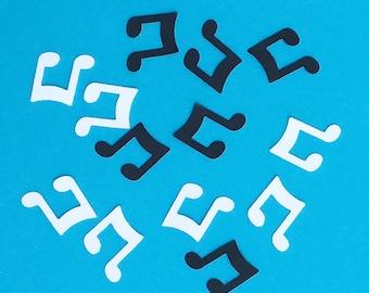 200 Music Note Confetti Music Confetti Black and White Confetti Black Confetti White Confetti Party Confetti Die Cut