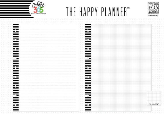 Happy Planner Create 365 Note Paper 3 Sizes Full Sheets – Double Lined Paper