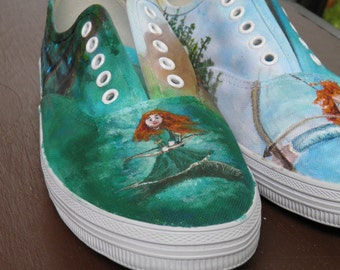 Disney's Brave Inspired Custom painted shoes