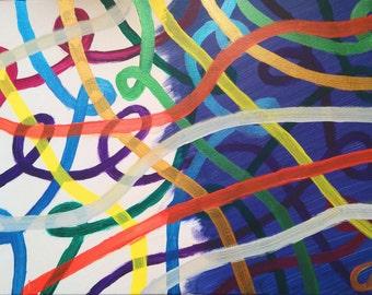 Society, Original abstract art painting