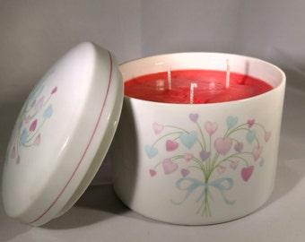 Multi Color Floral Ceramic Candle