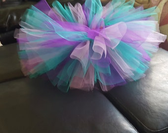 Pink, purple and aqua handmade tutu