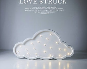 mini cloud battery operated lights in stock wooden cloud light for kids' room decor