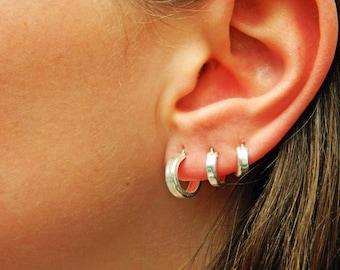 Sterling Silver Hoop Earrings - Silver Hoop Earrings - Tiny Hoop Earrings - Hoop Earrings - Small Hoop Earring - Silver Hoop Tiny,024H