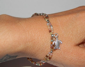 Bracelet silver and indian agate