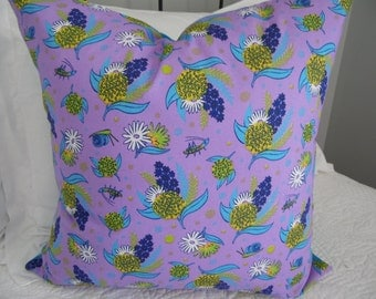 Purple floral pillow cover. Tween/Teen purple pillow cover. Product ID# P0056