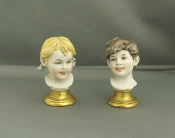 Benacchio hand crafted and painted Porcelain Heads