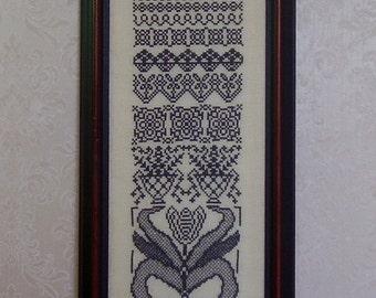 Cross Stitch PDF Pattern Tulip Band Sampler
