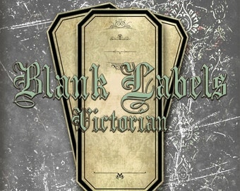 """Printable Blank Labels,Halloween Labels,Steampunk Labels,Apothecary Labels,Digital Labels, Instant Download,Size: (1.5""""x3.2"""")"""