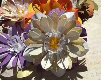 Assorted Paper Flowers (set of 6)