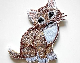 Cat Kitty Kitten Pet Feline Friends Iron On Patch