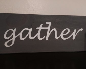 Hand painted wooden sign, home decor