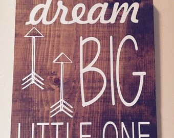 Rustic stained woodland nursery sign