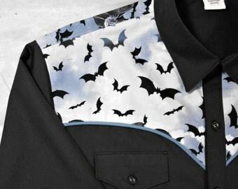 Bat Attack Western style shirt - Short or Long Sleeve