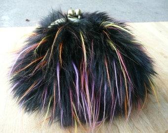 wallet multi-color fur