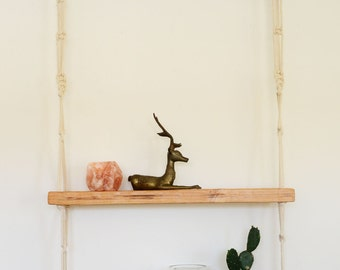 Macrame wooden shelfs.
