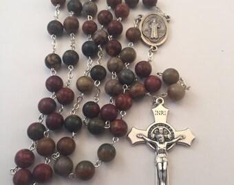 RESERVED FOR PAMELA   (Picasso Jasper Rosary )