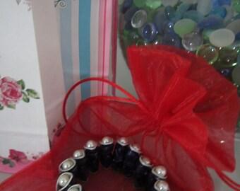 Purple spring bracelet