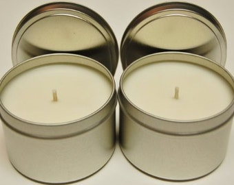 Homemade highly scented soy candle 4 oz tin