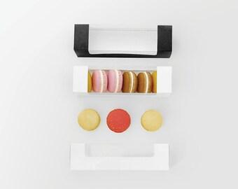 10 macaron boxes holds 6pcs , macaron cases, macaron boxes, macaron favor boxes, favor boxes, macarons, macaron packaging