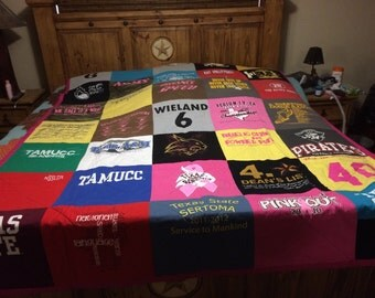 College days t shirt memory quilt