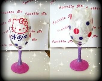 Sparkle Me Cat Wine Glass