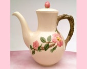 1950s Franciscan 'Desert Rose' Pattern Coffee Pot, Made in America