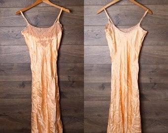 Peach slip dress #7