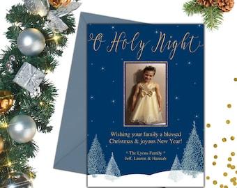 O Holy Night Christmas Photo Card; Holiday Cards; Photo Christmas Cards; Photo Holiday Cards; Christmas Card Photo; Holiday Photo Cards