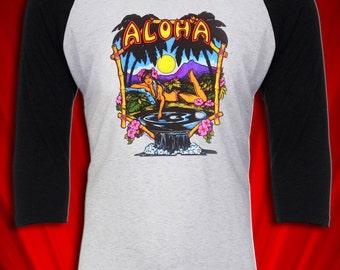 Aloha Hawaii Vintage 1976 Tee pin-up T-shirt