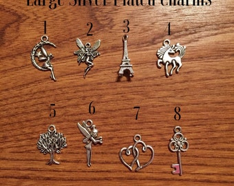 Add on: Large Silver Plated charms
