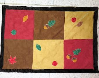 Warm Autum Leaf Merino Wool Children's Blanket