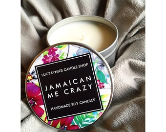 Soy Candle - Jamaican Me Crazy - 8oz. Tins
