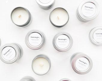 sample kit // black lavender soy candle // white grapefruit soy candle // herbal tea //